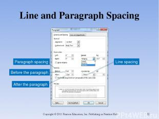 Line and Paragraph Spacing Copyright © 2011 Pearson Education, Inc. Publishing a