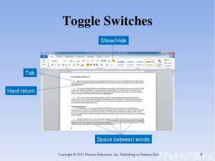 Toggle Switches Copyright © 2011 Pearson Education, Inc. Publishing as Prentice