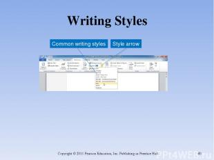 Writing Styles Copyright © 2011 Pearson Education, Inc. Publishing as Prentice H