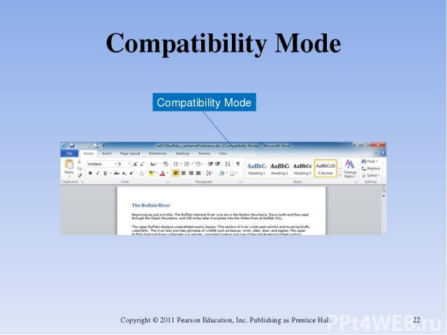 Compatibility Mode Copyright © 2011 Pearson Education, Inc. Publishing as Prentice Hall. * Compatibility Mode Copyright © 2011 Pearson Education, Inc. Publishing as Prentice Hall.