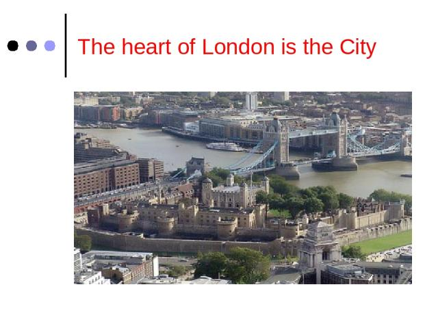 The heart of London is the City