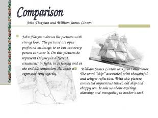John Flaxman and William James Linton John Flaxman draws his pictures with stron