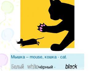 Мышка – mouse, кошка - cat. - , а чёрный - .