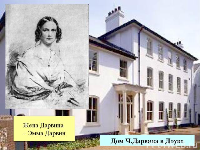 Дом Ч.Дарвина в Доуне Жена Дарвина – Эмма Дарвин