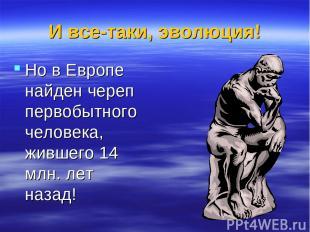 И все-таки, эволюция! Но в Европе найден череп первобытного человека, жившего 14