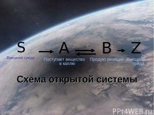 S Внешняя среда A Поступает вещество в каплю B Продукт реакции Z Внешняя среда С