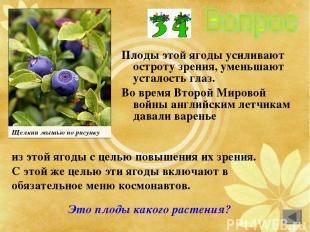 Плоды этой ягоды усиливают остроту зрения, уменьшают усталость глаз. Во время Вт
