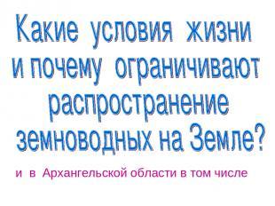 и в Архангельской области в том числе