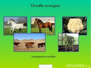"""""""Основы селекции"""" Электронное пособие 5klass.net"""