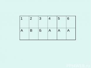 1 2 3 4 5 6 А В Б А А А