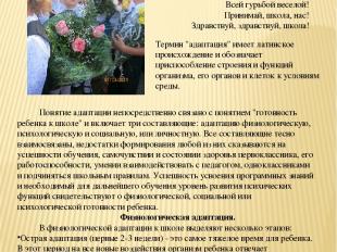 Консультации для родителей Советы логопеда Адаптация первоклассников к школе Мы