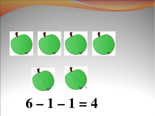 6 – 1 – 1 = 4