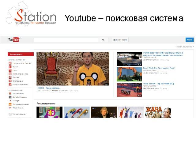Youtube – поисковая система