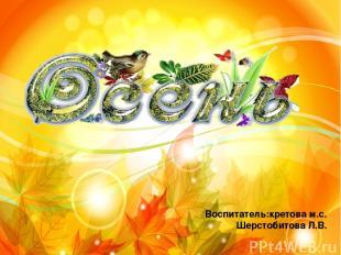 Воспитатель:кретова м.с. Шерстобитова Л.В.