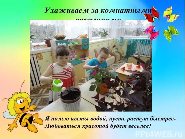 Ухаживаем за комнатными растениями Я полью цветы водой, пусть растут быстрее- Любоваться красотой будет веселее!