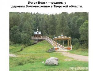 Исток Волги —родник у деревни Волговерховье в Тверской области.