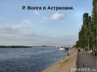 Р. Волга в Астрахани.