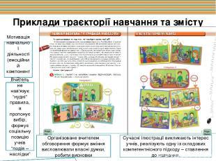Приклади траєкторії навчання та змісту завдань Мотивація навчальної діяльності (