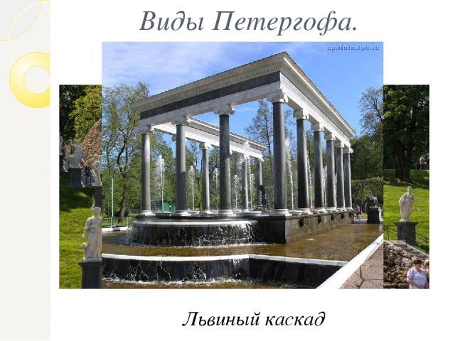 Виды Петергофа. Фонтан «Шахматная горка» Львиный каскад