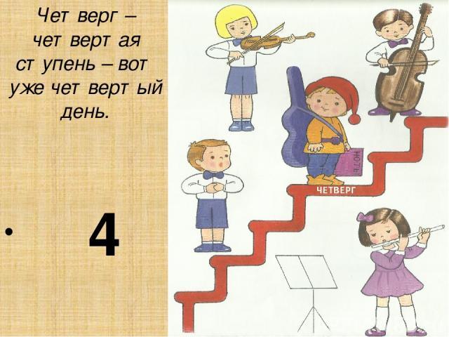 Четверг – четвертая ступень – вот уже четвертый день. 4