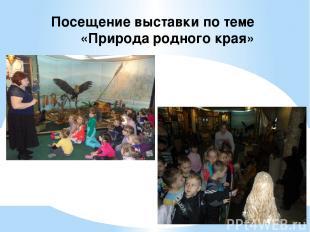 Посещение выставки по теме «Природа родного края»