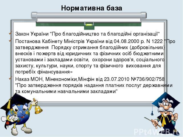 Нормативна база Закон України