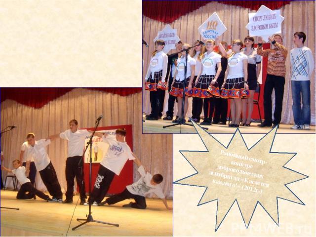 Районный смотр-конкурс добровольческих агитбригад «Касается каждого!» (2012г.)