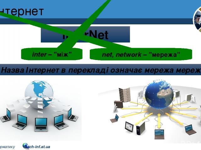 Інтернет Розділ 2 § 8 InterNet inter –