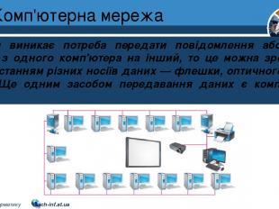 Комп'ютерна мережа Розділ 1 § 7 Коли виникає потреба передати повідомлення або д