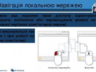 Навігація локальною мережею Розділ 1 § 7 Залежно від наданих прав доступу корист