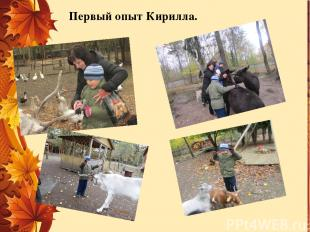 Первый опыт Кирилла.
