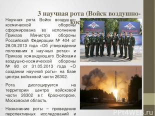 3 научная рота (Войск воздушно-космической обороны) Научная рота Войск воздушно-