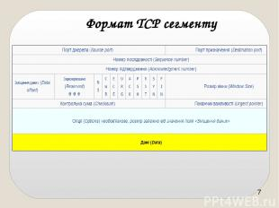 Формат ТСР сегменту