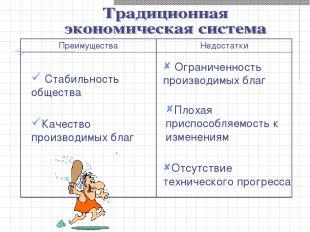 Стабильность общества Качество производимых благ Ограниченность производимых бла