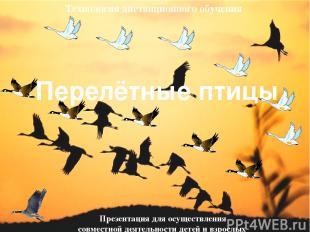 Перелётные птицы Презентация для осуществления совместной деятельности детей и в