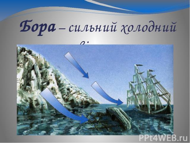 Бора – сильний холодний вітер, що дме з гір до моря