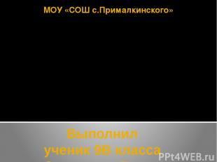 МОУ «СОШ с.Прималкинского» Выполнил ученик 9В класса Залепухин Вадим Минеральные