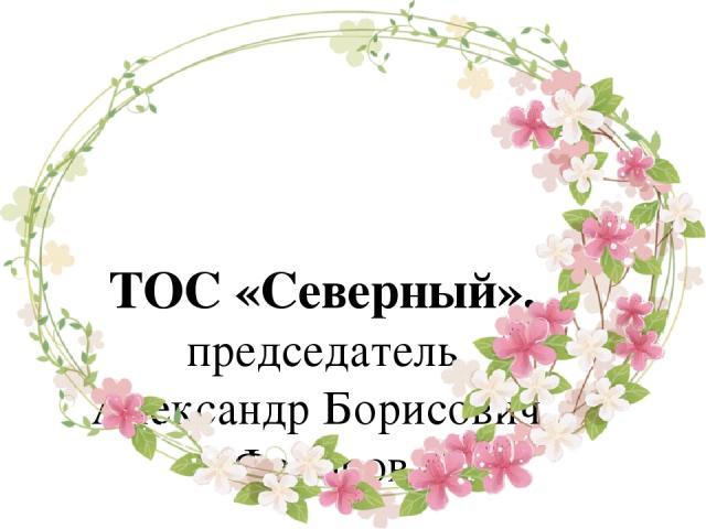 ТОС «Северный», председатель Александр Борисович Федоров