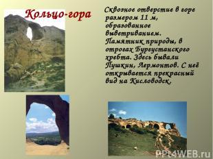 Кольцо-гора Сквозное отверстие в горе размером 11 м, образованное выветриванием.