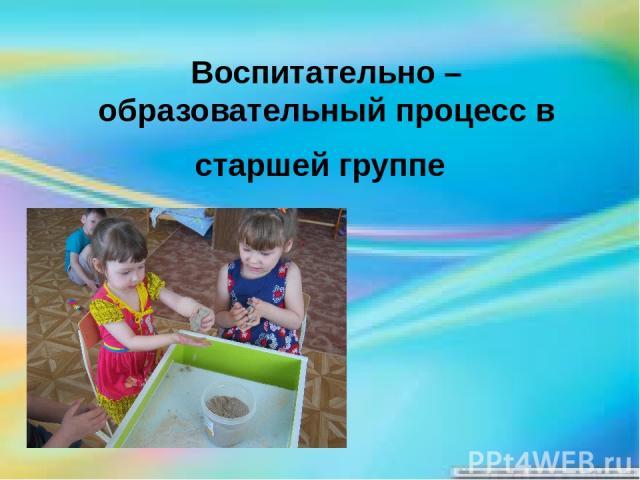 Воспитательно – образовательный процесс в старшей группе