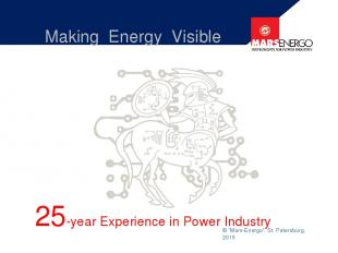 "© ""Mars-Energo"", St. Petersburg, 2015 Making Energy Visible 25-year Experience i"