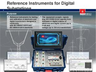 Reference Instruments for Digital Substations * Reference instruments for testin
