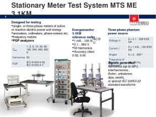 Stationary Meter Test System MTS ME 3.1KM Energomonitor 3.1KM reference meter 1