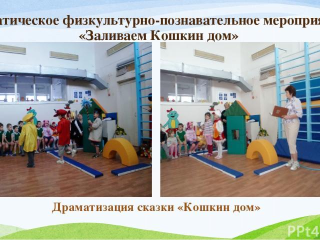 Тематическое физкультурно-познавательное мероприятие «Заливаем Кошкин дом» Драматизация сказки «Кошкин дом»