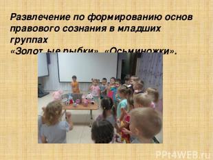 Развлечение по формированию основ правового сознания в младших группах «Золотые