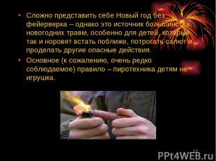 * Сложно представить себе Новый год без фейерверка – однако это источник большин