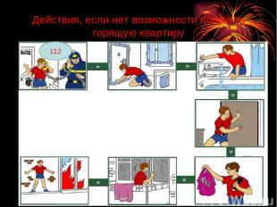 Действия, если нет возможности покинуть горящую квартиру 112