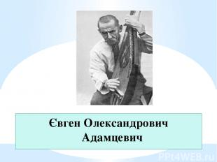 Євген Олександрович Адамцевич