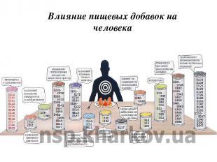 Влияние пищевых добавок на человека