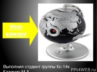 Web-камера Выполнил студент группы Кс-14к Калинин.М.А